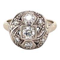 Platinum and gold Art Deco Diamond Ring