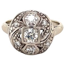 Platinum and gold Art Deco Diamond Ring