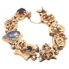 Victorian 14k Yellow Gold Slide Bracelet