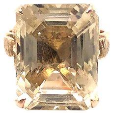 14k Rose Gold Citrine Ring