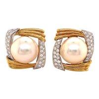 18k Yellow Gold Mobe Diamond Earring