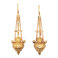 Antique14K Yellow Gold Earring