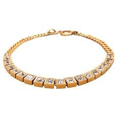 Antique 14k Yellow Gold Diamond Bracelet