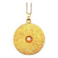 Antique 14k Yellow Gold Diamond Locket
