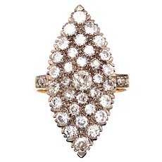 Antique Yellow Gold Diamond Ring