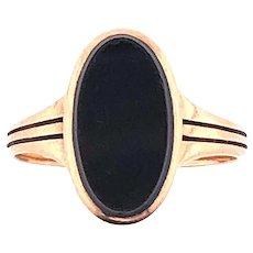 14k Yellow Gold Victorian Onyx Ring