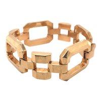 Retro 14K Yellow Gold Geometric Bracelet.