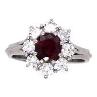 Platinum Ruby and Diamond Ring.
