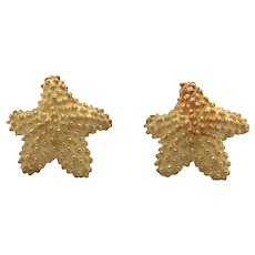 Tiffany & Co 18k Yellow Gold Starfish Earring.