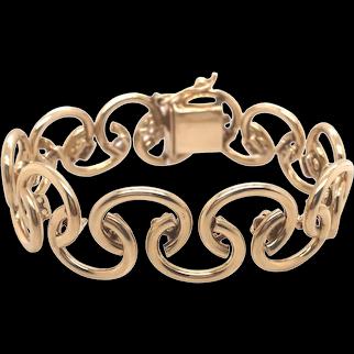 14K Yellow Gold Hand Made Bracelet.