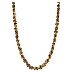 18K Yellow Gold Rope Chain.