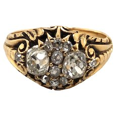 Victorian Yellow Gold Diamond Ring.