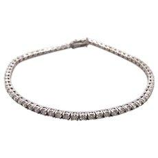 18K White Gold Diamond Bracelet.