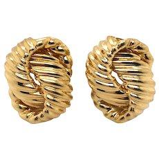 18K Yellow Gold Earring (26409)