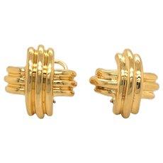 Tiffany & Co 18K Yellow Gold Earring.