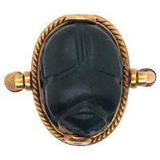 Antique Egyptian 22K Yellow Gold Scarab Ring