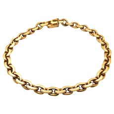 18K Yellow Gold Bracelet.