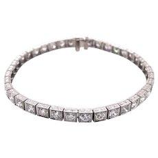 Art Deco Platinum Diamond Bracelet.