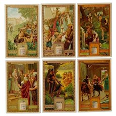 Liegbig set of six trade cards,Fairy tales,Collectors item
