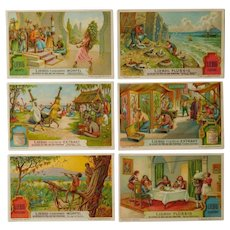 Liegbig set of six trade cards,Collectors item,celebrations,dance