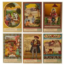 Liebig advertisement cards,set of six trade cards,Collectors item,Persian,Indian,Turkish people