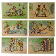 Advertisement cards,set of six trade cards,Collectors item