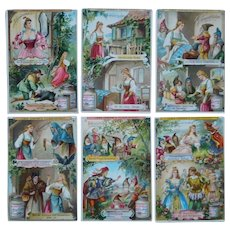 Liegbig set of six trade cards,Collectors item,Fairy tale,women costume