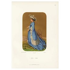 Authentic,19th Century,Decorative Art Print,Fashions From the Mid 15th Century