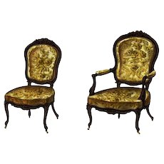 Original,Antique,19th Century,Hand colored,French Furniture,Lithograph,Chairs,Furniture
