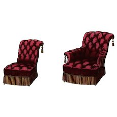 Original,Antique,19th Century,Hand colored,French Furniture,Lithograph,Sofa seats,Furniture
