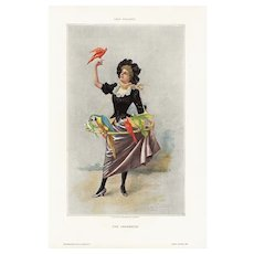 Late 19th Century,Authentic,Victorian Lady,Print,Art Poster,Home Decor,Decorative art,1893