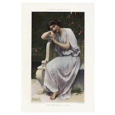 Late 19th Century,Authentic,Victorian Lady,Print,Art Poster,Home Decor,Decorative art,1893,