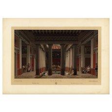 19th Century,Decorative art,Original,lithograph print,Artist firmin didot,circa 1887,Middle Ages Renaissance