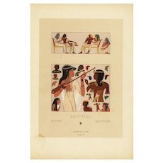 19th Century,Decorative art,Original,lithograph print,Artist firmin didot,circa 1887,Middle Ages Renaissance,Egyptian
