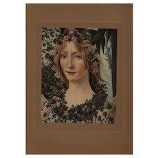 19th century Sandro Botticelli Allgorie De la Primavera Original Engraving
