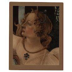 19th century Sandro Botticelli Original rare large  Engraving