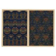 19th century,Japanese,lithograph print,Large folio,flower pattern,gorgeous print