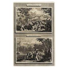 18th century Biblical Engraving original and rare print Large Folio size