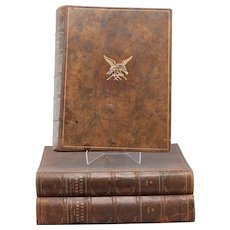 20th Century Three Large complete Volumes of Von Wright's Svenska Faglar. 315 Cromolithograph prints of birds