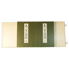 Original Japanese woodblock prints book set of two Korin Pattren by Korin Later Printing