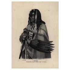 19th century,Authentic,1842,Natural History,Print o fHuman Race,Makuie Poka,black and white,zoology print