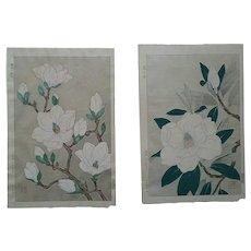 set of two prints,Original,Japanese,woodblock prints,by Shodo Kawarazaki 1889-1973