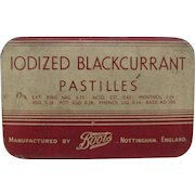 Iodized Blackcurrant Pastilles Medicine Tin