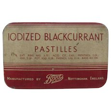 Iodized Blackcurrant Pastilles Medicine Tin