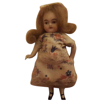 """5"""" all Bisque Doll early 1900s"""