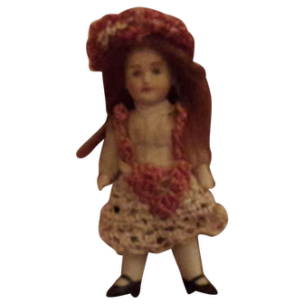 """3 1/2"""" German all bisque doll"""
