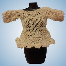 Sweet Tiny Knitted  Dress foe your all bisque doll