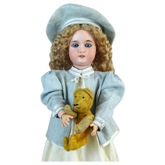 Antique German Bisque Head Doll Adolf Wislizenus AW Special