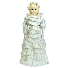 Early rare antique German wax Doll Motschmann Type