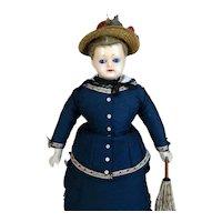 Early Rare Antique German Fashion Wax Doll